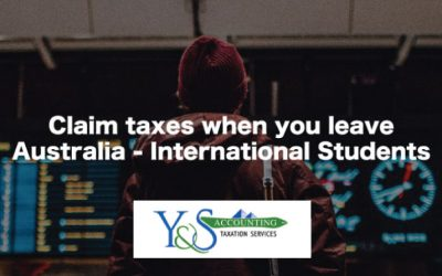 Claim Your Taxes When You Leave Australia – International Students